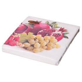 Салфетки бумажные 3-х слойные 33*33 см-423-224