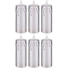 Комплект из 6-ти декоративных свечей диаметр=7,5 см высота=24 см дизайн: горный хрусталь (кор=4комп.-234-131