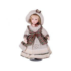 Кукла фарфоровая высота=40 см.-346-239