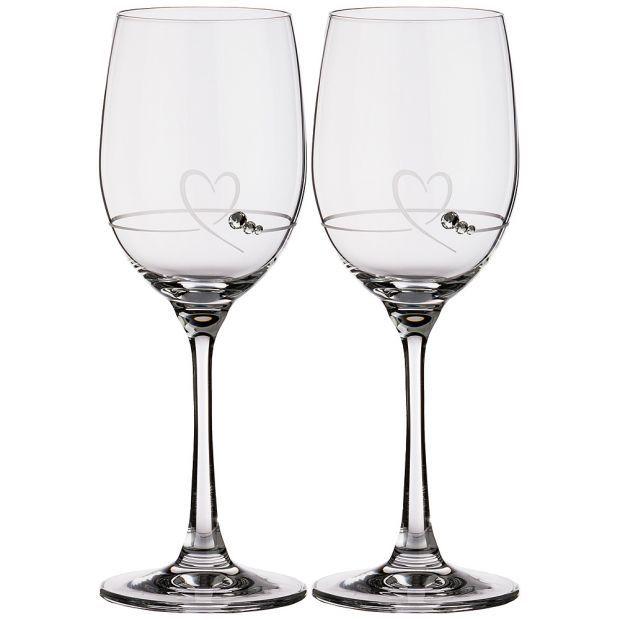 """Набор бокалов для вина из 2 штук """"heart"""" 280 мл-681-120"""