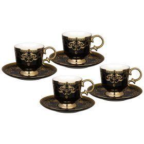Чайный набор lefard на 4 персоны 8 пр. 250 мл черный (кор=6наб.)-91-096