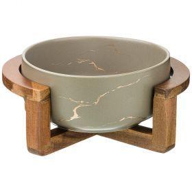 Салатник на деревянной подставке  коллекция