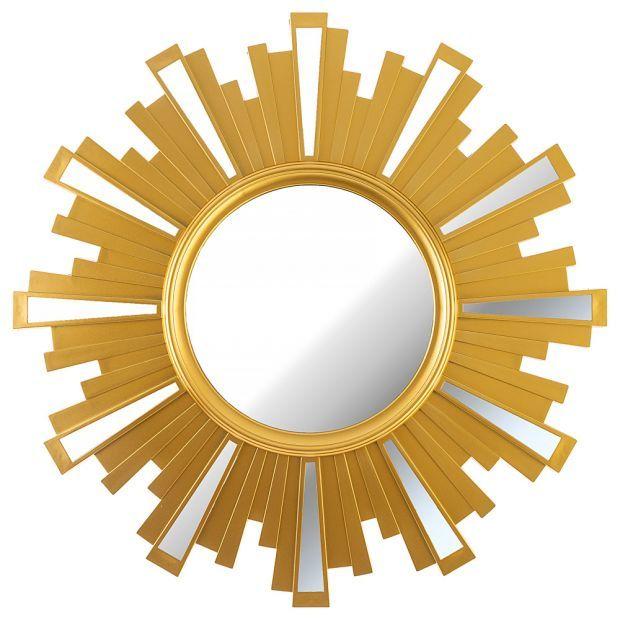 "Зеркало настенное ""swiss home"" 52 см цвет: золото (кор=4шт.)-220-418"