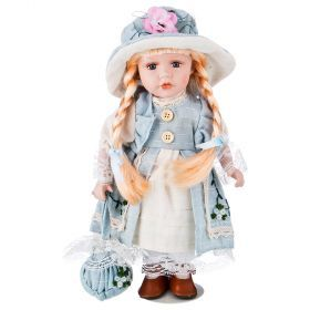 Кукла фарфоровая высота=30 см.-346-259