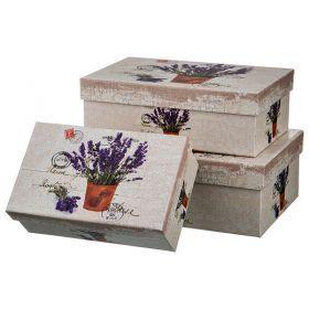 Набор подарочных коробок из 3 шт. диаметр 20/17,5/14 см. высота 8,5/6,5/5,5 см.-37-267