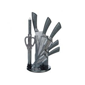 Набор ножей нжс на вращающейся пластик. подставке 8 пр.-911-508