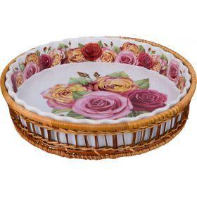 Блюдо для запекания на подставке диаметр=28 см.высота=5 см.-792-015