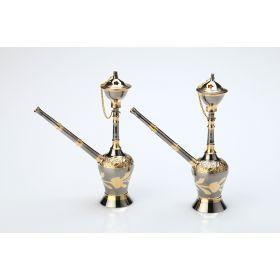 Комплект кальянов сувенирных из 2 шт.высота=17 cm-878-019