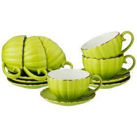 Чайный набор на 6 персон 12 пр 200 мл (кор=6набор.)-153-864