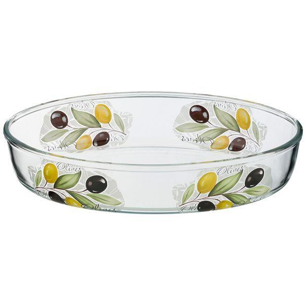 """Форма для запекания """"оливки"""" овальная 2,36 л 30,3*21,3*6 см (кор=6шт.)-484-746"""