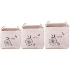 Набор корзин для белья с ручками из 3-х шт l: 43*34*42/m:36*30*39/s:35*26*37 см-190-196