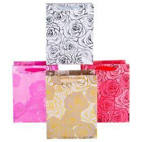 Комплект бумажных пакетов из 12 шт  23*18*10 см.-512-579