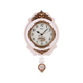 Часы настенные кварцевые с маятником 32*7,5*55 см. диаметр циферблата=19 см.-204-192