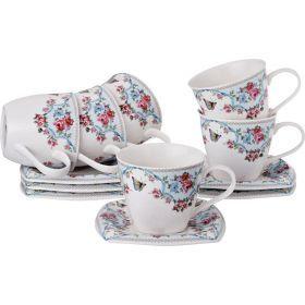 Чайный набор на 6 персон 12пр. 220 мл.-165-342