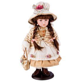 Кукла фарфоровая высота=40 см.(кор-6шт.)-346-026