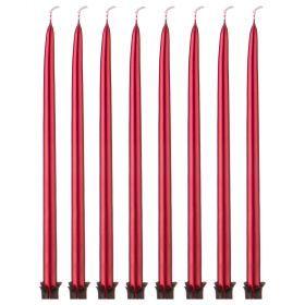 Набор свечей из 8 шт. 23/1 см. металлик красный-348-625