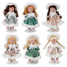 Кукла фарфоровая выскратноа=13 см. 6 видов   (Мин= 12шт./кор=144шт.)-346-262