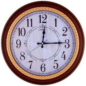 Часы настенные кварцевые диаметр 44,5 см диаметр циферблата 34,65 см-207-401