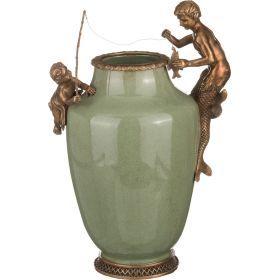 Декоративная ваза 24*17 см. высота=35 см.-469-246