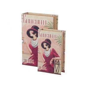 Комплект шкатулок-книг из 2 шт.27*18*7/21*13*5 см.-184-334