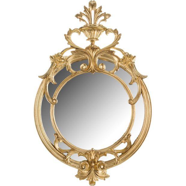 Зеркало настенное позолоченное ширина=36 см. высота=56 см.-290-019
