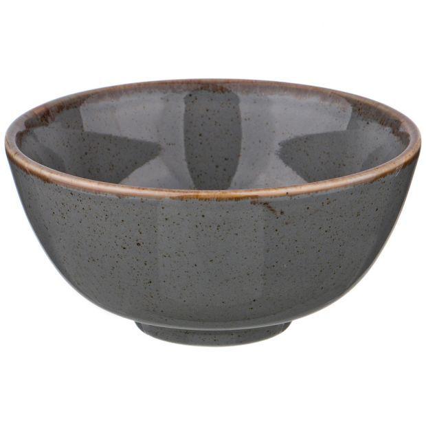 Миска seasons 13 см цвет темно-серый (кор=8шт.)-664-122