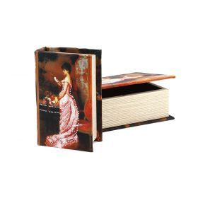 Комплект из 2-х шкатулок-книг 22*16*7 / 17*11*5 см
