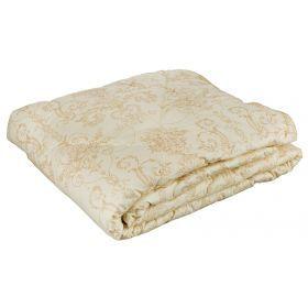 Одеяло бамбук  легкое 140*205 см, верх:тик-100% хлопок, наполнитель: 100% полиэстер, сливочный с рис