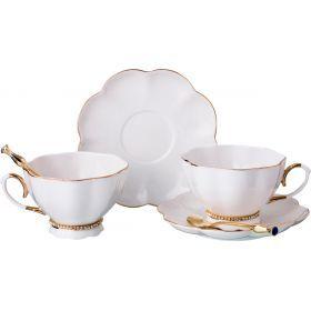 Чайный набор на 2 персоны с ложками 6 пр. 250 мл.-779-173