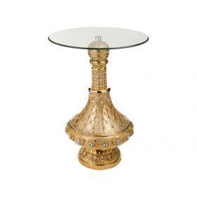 Подставка интерьерная+стекло высота-85 см.диаметр=60 см.