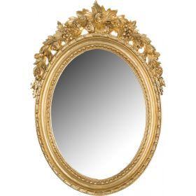 Зеркало овальное высота=50 см. ширина=36 см.-290-037