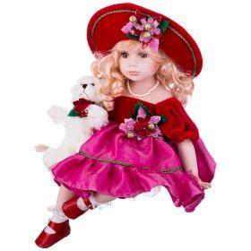 Кукла фарфоровая высота=40 см.-346-222