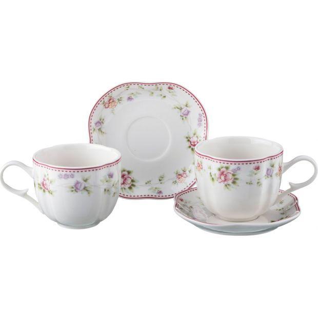 """Чайный набор на 2 персоны """"екатерина"""" 4пр. 200 мл.-54-411"""