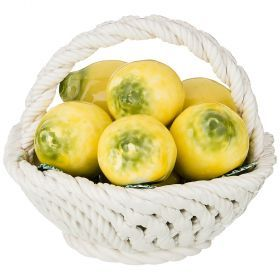 Декоративное блюдо с лимонами малое диаметр=13 см. высота=12 см.-697-085