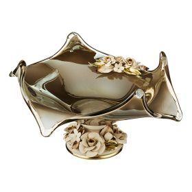 Декоративная чаша 40*41 см. высота=22 см.-647-619