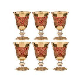 Набор бокалов для вина из 6 шт.170 мл.высота=14 см.-103-514