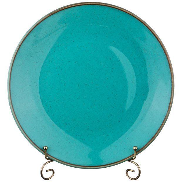 Тарелка seasons 28 см цвет бирюзовый (кор=12шт.)-664-183
