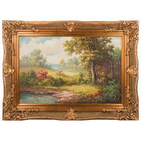 Картина масляная на холсте 90*60 см. багет 116*86 см.-107-1067