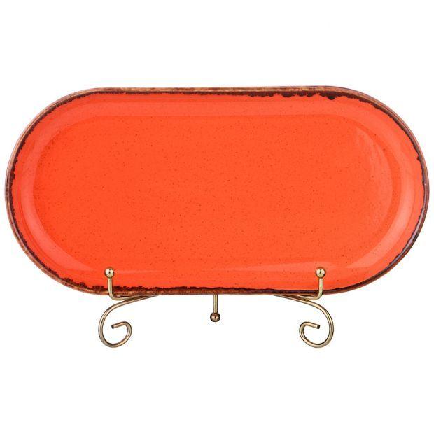 Блюдо seasons овальное 30*15 см цвет оранжевый (кор=6шт.)-664-105