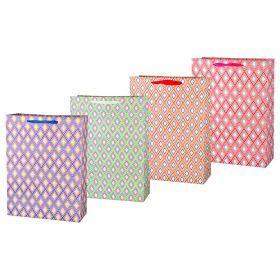 Комплект бумажных пакетов из 12 шт  40*30*12 см.-512-573