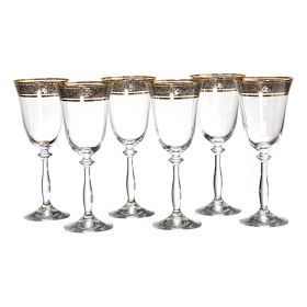 Набор бокалов для вина из 6 шт.анжела импрешн 250 мл.