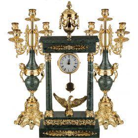 Набор:часы+2 подсвечника  циферблата=10 см.-292-019