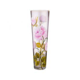 Ваза декоративная бутон розы розовый высота 40 см-135-5075
