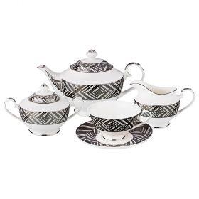 Чайный набор на 6 персон 15 пр (кор=4набор.)-760-661