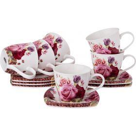 Чайный набор на 6 персон 12пр. 220 мл.-165-390