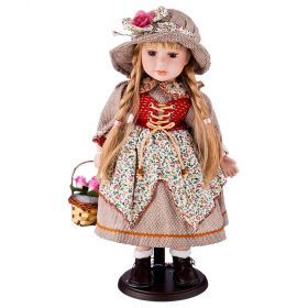 Кукла фарфоровая высота=42 см.-346-255