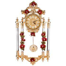 Часы настенные цвет красный 90*48*18см. диаметр циферблата=19см.-308-221