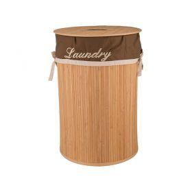 Корзина для белья бамбук диаметр 40*60 см.-190-161