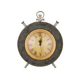 Часы кварцевые настольные 28*24*6 см.диаметр циферблата=15 см.-184-306