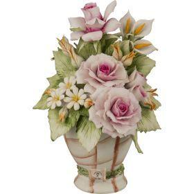Декоративная ваза с цветами 26*18*18 см.